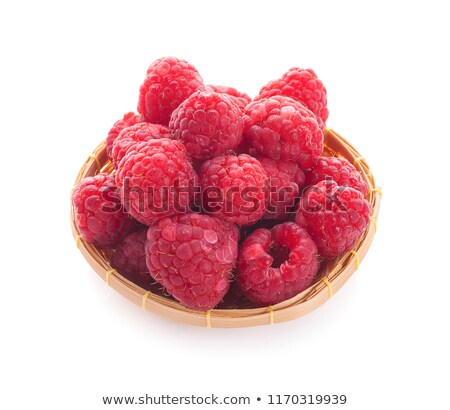 rasberry in basket on white background Stock photo © ungpaoman
