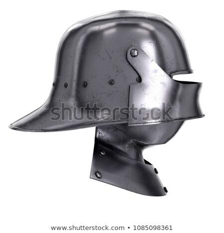 Médiévale guerriers acier casque mensonges autre Photo stock © sarahdoow
