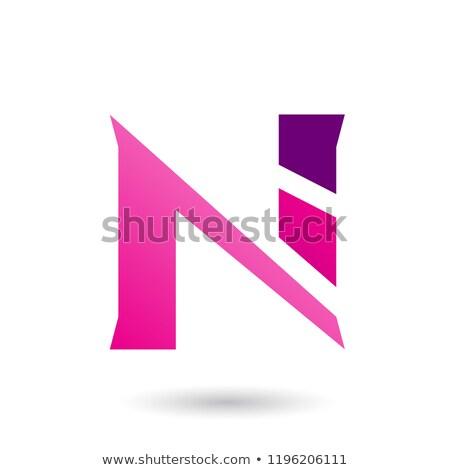 Stockfoto: Magenta · vector · illustratie · geïsoleerd