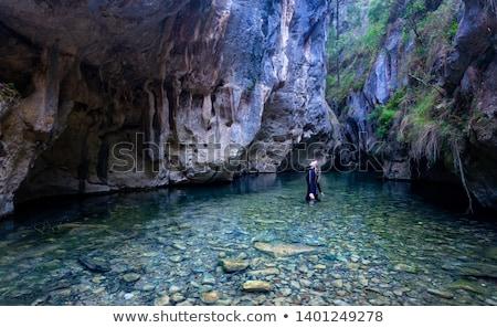 каньон поздно после полудня свет воды плаванию Сток-фото © lovleah