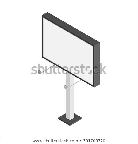 Vektor izometrikus óriásplakát út alacsony szabadtér Stock fotó © tele52