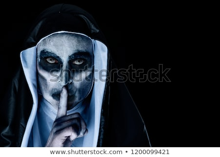 frightening evil nun asking for silence Stock photo © nito