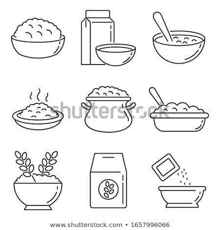 Ilustracja zdrowych płatki śniadaniowe puchar wektora Zdjęcia stock © Margolana
