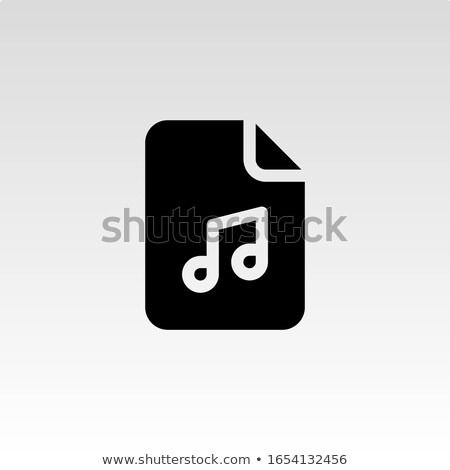 Folder Icon with music note icon in trendy flat style isolated on white background, for your web sit stock photo © kyryloff