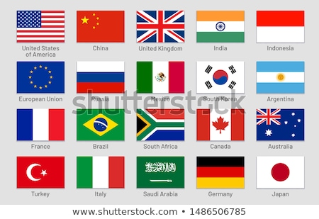 Wektora zestaw flagi świat Pokaż banderą Zdjęcia stock © butenkow