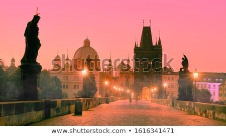 Illumination on Charles bridge Stock photo © Givaga