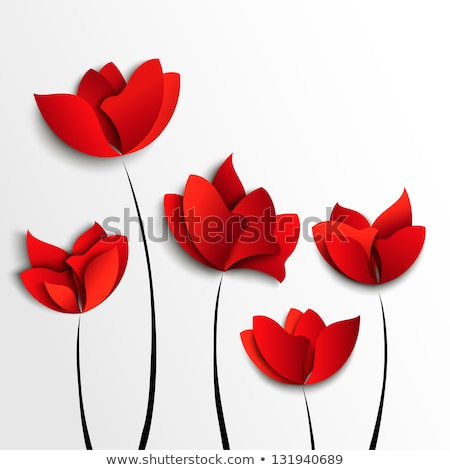 Rood tulp origami geïsoleerd witte papier Stockfoto © brulove
