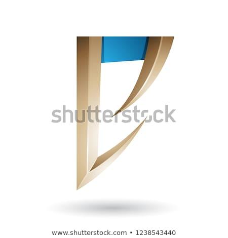 Beżowy niebieski arrow wektora Zdjęcia stock © cidepix