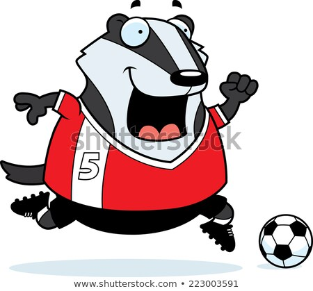 Cartoon Badger Soccer Stock photo © cthoman