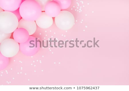 Carnival Banner Colored Balloons Confetti Stock photo © limbi007