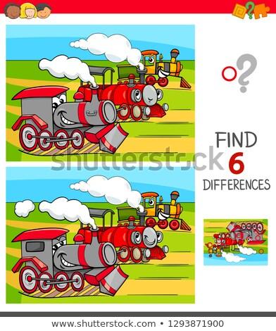 Encontrar diferenças jogo desenho animado ilustração Foto stock © izakowski