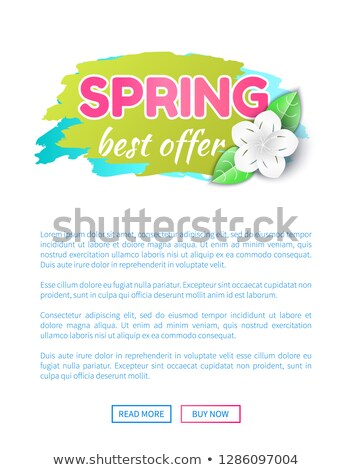 Springtime Sale Certificate with Best Prices Offer Stock photo © robuart