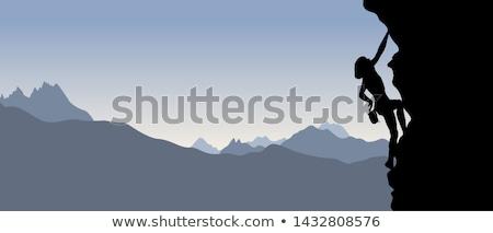 девушки иллюстрация стены природы горные рок Сток-фото © adrenalina