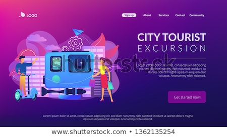 City segway tour concept landing page. Stock photo © RAStudio