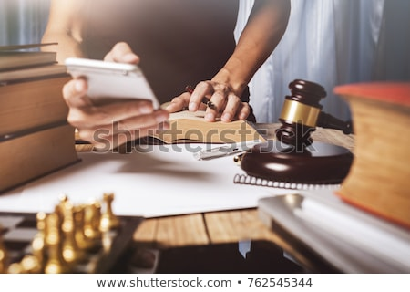 Büro · Arbeitsplatz · Berater · jungen · Rechtsanwalt · Gesetzgebung - stock foto © snowing