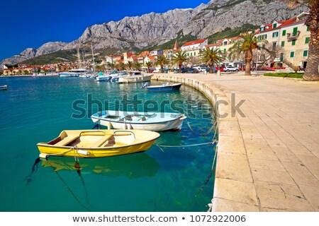 町 · 表示 · ビーチ · 地域 · クロアチア · 空 - ストックフォト © xbrchx