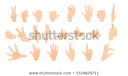 Count two with hand gesture Stock photo © colematt