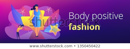 Test pozitív fejléc szalag plus size nő Stock fotó © RAStudio