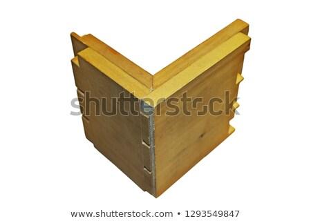 木製 要素 ジョイント 白 建設 孤立した ストックフォト © taviphoto