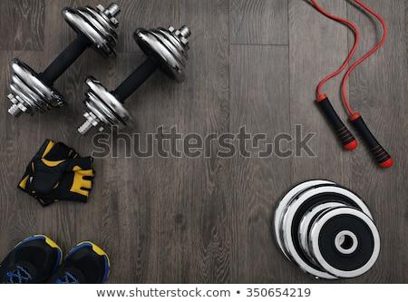 Gym Equipment On Floor Stock photo © AndreyPopov