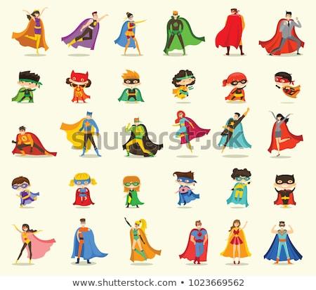 çocuk süper kahraman sahne örnek Bina çocuk Stok fotoğraf © bluering