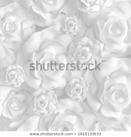 Estuco imagen flor blanca rojo pared de ladrillo pared Foto stock © nuttakit