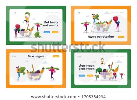 菜食 着陸 テンプレート ベジタリアン ダイエット ストックフォト © RAStudio