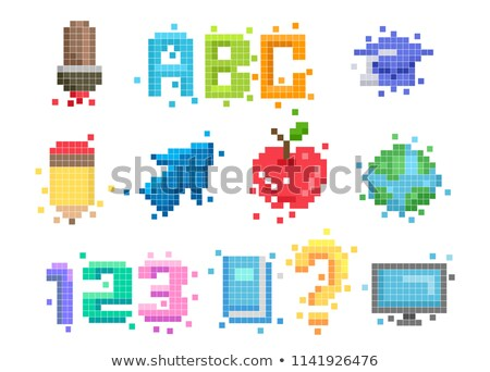 Graduate Abc Pixel Art Illustration Stock photo © lenm
