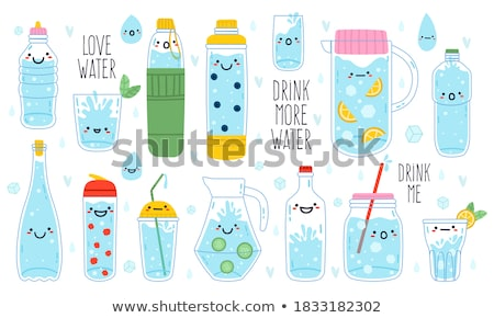 Szkła świeże zdrowych czystość wody Zdjęcia stock © pikepicture