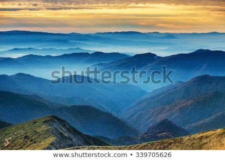 weg · bergen · gedekt · sneeuw · Zwitserland · hemel - stockfoto © lovleah