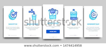 Water Treatment Items Vector Onboarding Stock photo © pikepicture