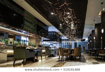 Restaurant Interiror, Table and Dinner Setting Stock photo © robuart