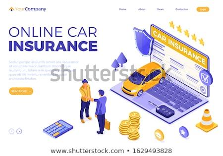 biztosítás · üzletember · aláírás · autó · irányvonal · iroda - stock fotó © Freedomz
