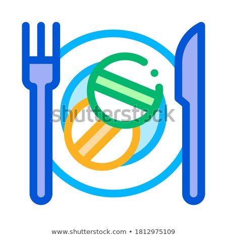 Glass of Water for Taking Pills Supplements Icon Vector Illustration stock photo © pikepicture