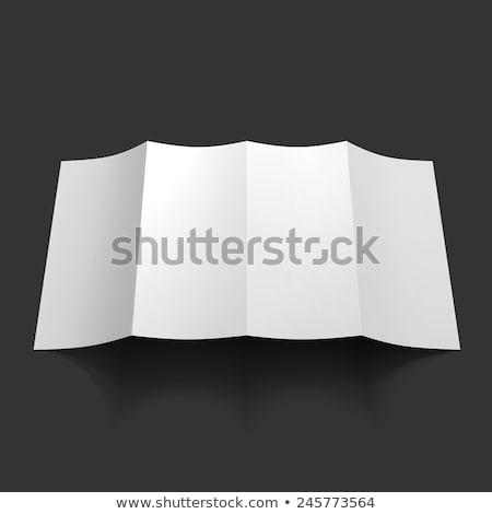 Doblado folleto papel cartón volante Foto stock © Andrei_