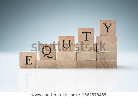 Stock photo: Stack Of Blocks Arranged In A Row Showing Equity Text