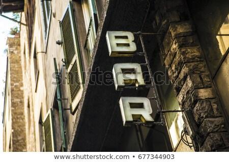 Bar Veröffentlichung trinken Fassade Vektor Stock foto © robuart