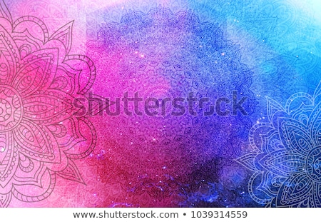 曼陀羅 パターン 紫色 実例 背景 芸術 ストックフォト © bluering