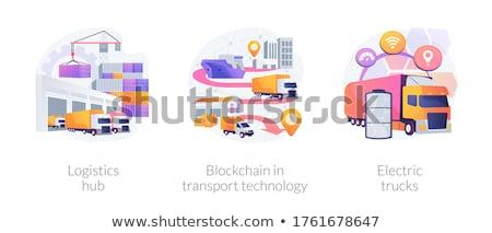Freight distribution vector concept metaphors. Stock photo © RAStudio
