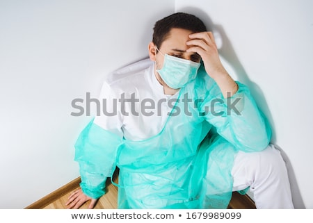 вид сбоку кавказский мужчины хирург стены Сток-фото © wavebreak_media