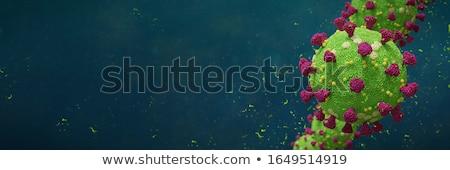 Stock photo: coronavirus pandemic outbreak banner with microscopic virus cell