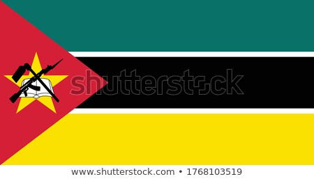 Mozambique flag, vector illustration on a white background Stock photo © butenkow