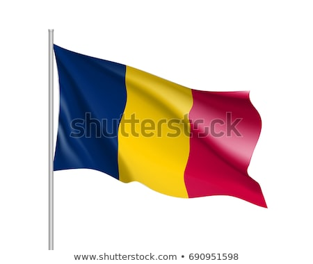 Chad flag, vector illustration on a white background. Stock photo © butenkow
