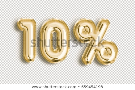 Gold 10 Percent Off Discount Sign Sale Banner Template Stock photo © supertrooper