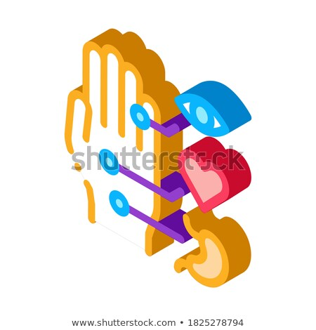 different points of impact of organs on arm icon vector outline illustration Stock photo © pikepicture