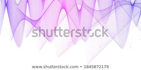 Elegáns hullámos kék halftone fehér terv Stock fotó © SArts