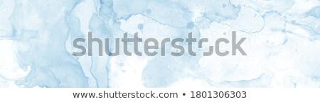 синий чернила падение изолированный Сток-фото © posterize