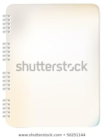 Old grunge spiral bound notepad  stock photo © orson