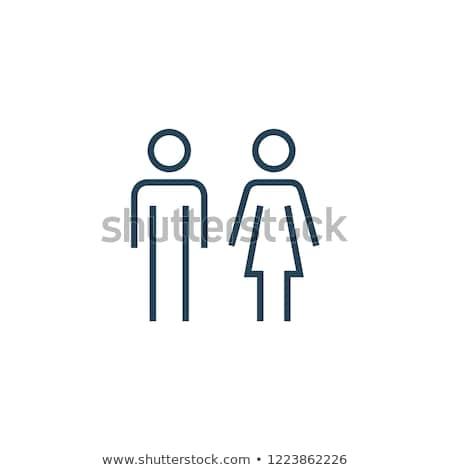 Kontur kobiet osoby twarz czarny Zdjęcia stock © cookelma