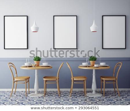 Modern · iç · kafe · dizayn · yemek · tablo - stok fotoğraf ...